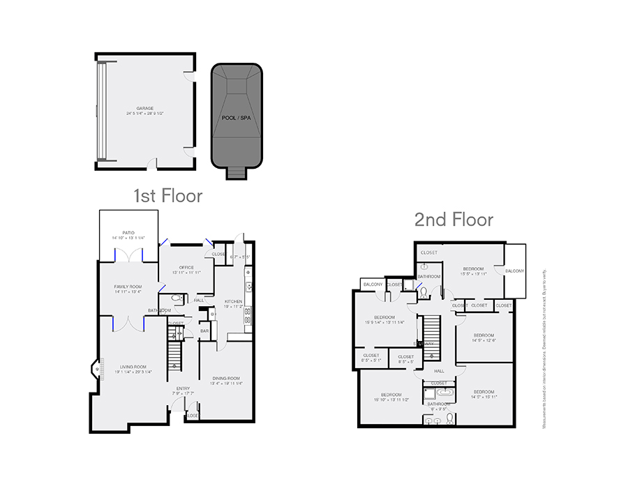 Real estate web solutions floor plan samples for Floor plans real estate